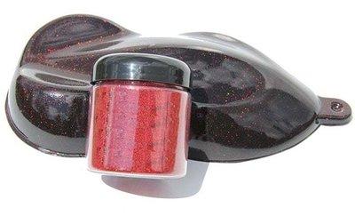 Rood metallic flake voor poedercoat en autolakken